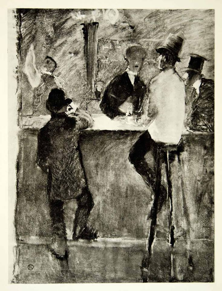 IN THE BAR DIPINTO DI TOULOUSE LAUTREC 1887 FOTO DEL 1939