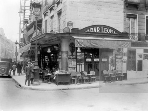 BAR LEON RUE DE BONDY PARIS 1930