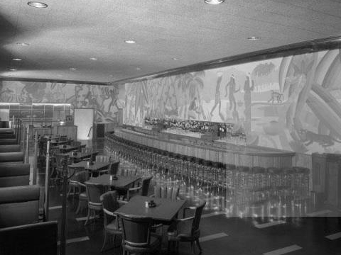 HOLABIRD ROOT PALMER HOUSE BAR 1933 CHICAGO