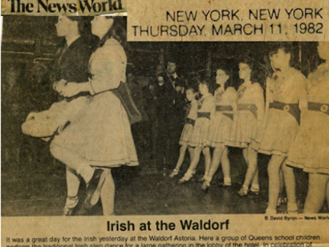 IRISH AT WALDORF ASTORIA