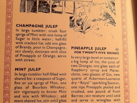 JULEPS RECIPE