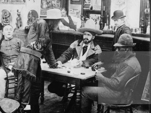 SALOON IN KLONDIKE GOLDRUSH 1900