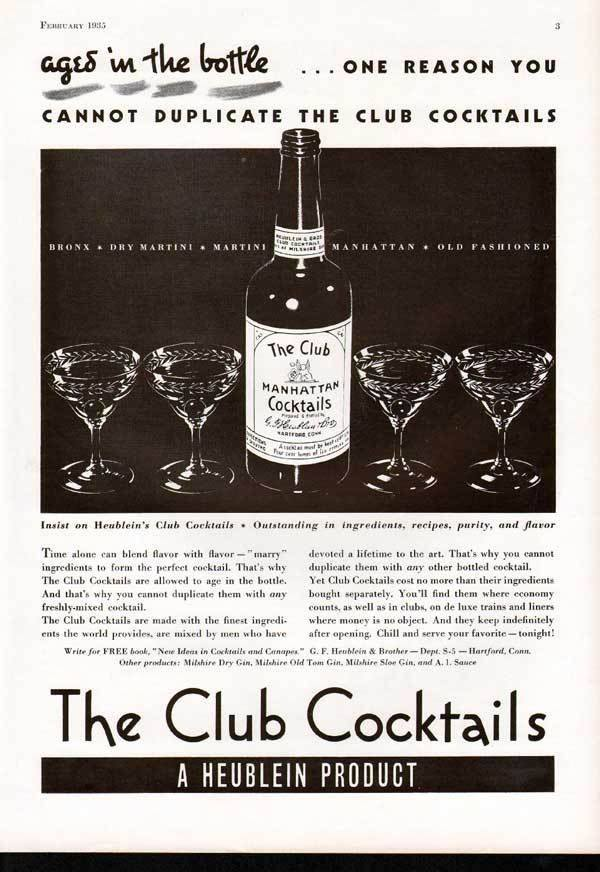 THE CLUB COCKTAIL