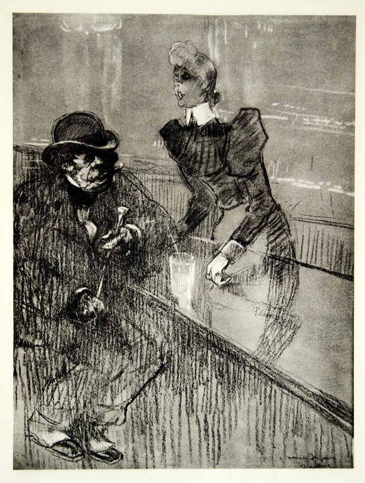 TOULOUSE LAUTREC LONDON BARMAID 1898